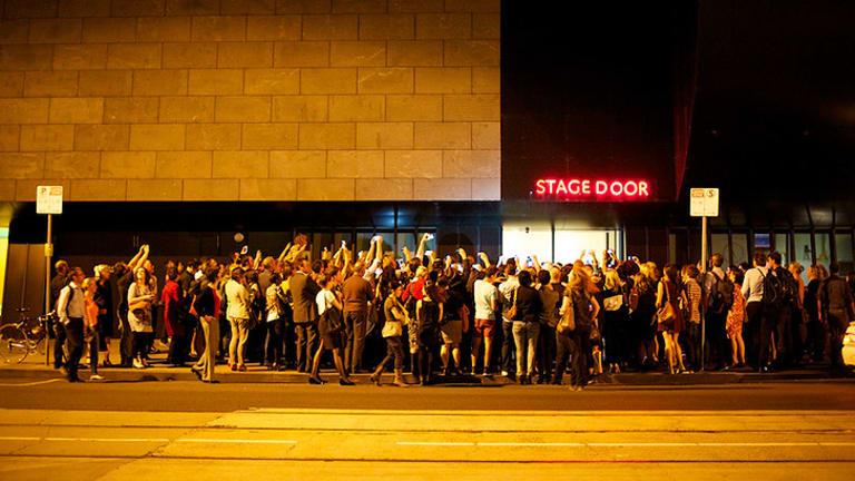 Fans outside the Melbourne Recital Centre.
