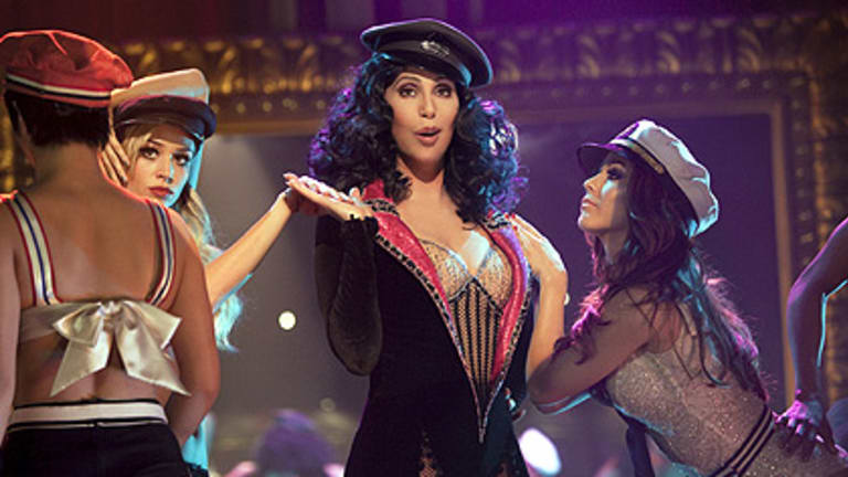 Cher as Tess in her new movie Burlesque.