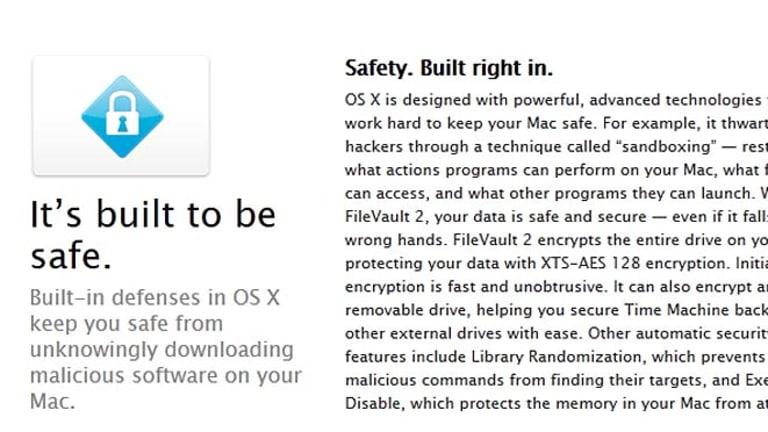 A screenshot of Apple's updated website.