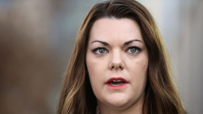 Banned: Greens Senator Sarah Hanson-Young is not allowed to visit detention centres in the lead up to the federal election.