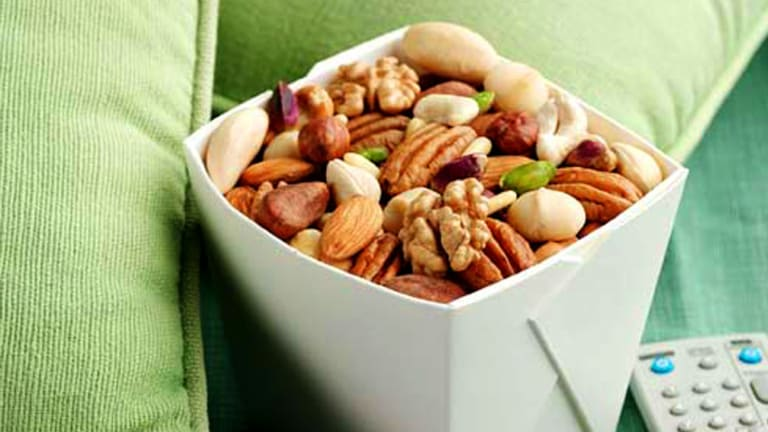 Filling and nutritious ... a handful of raw or dry-roasted nuts makes a healthy snack.