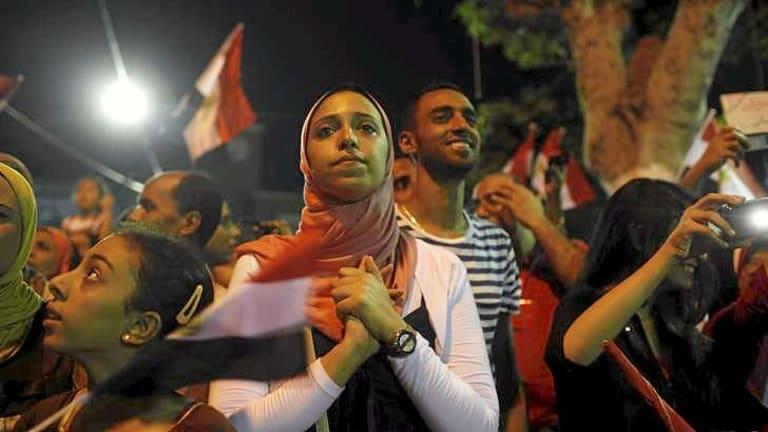 Anti-Morsi protesters in Alexandria.