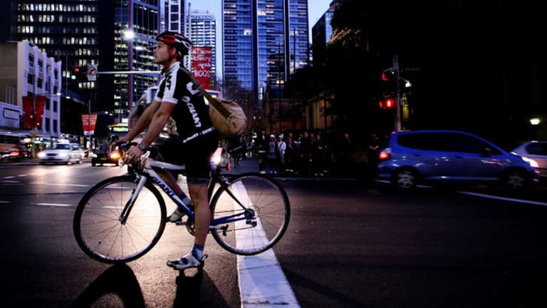 Higher risk: Cyclists without lights are three times more likely to suffer serious injuries.