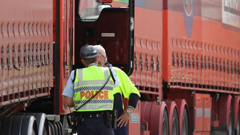 Crackdown ... police and the NSW government are prosecuting trucking companies for offences committed by their drivers.
