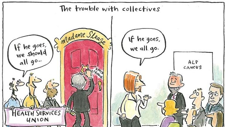 <em>Editorial cartoon by Cathy Wilcox</em>