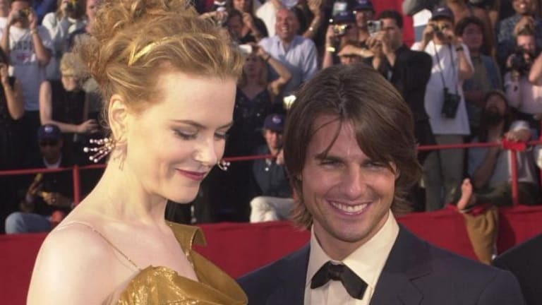 Before their split: Nicole Kidman and Tom Cruise at the Academy Awards in 2000.