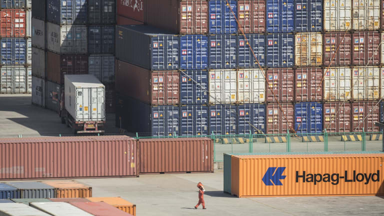 The US trade gap with China widened to a record $US36.8 billion in July.