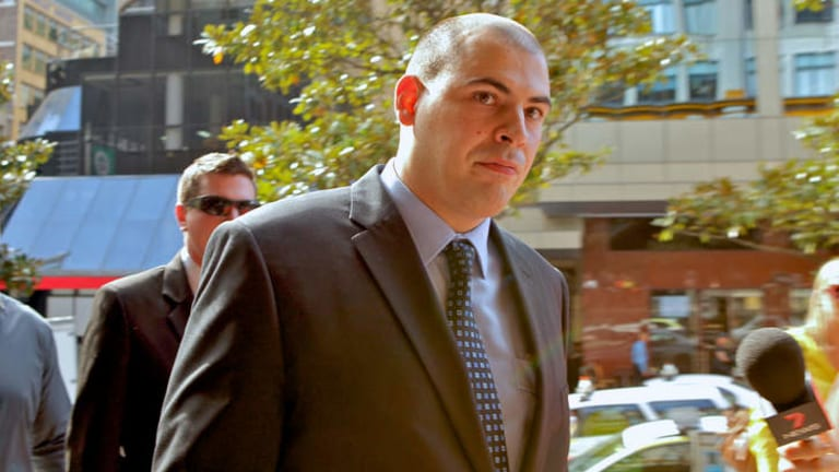 Constable Leon Mixios: said he saw Mr Jackson Reed kick a woman.