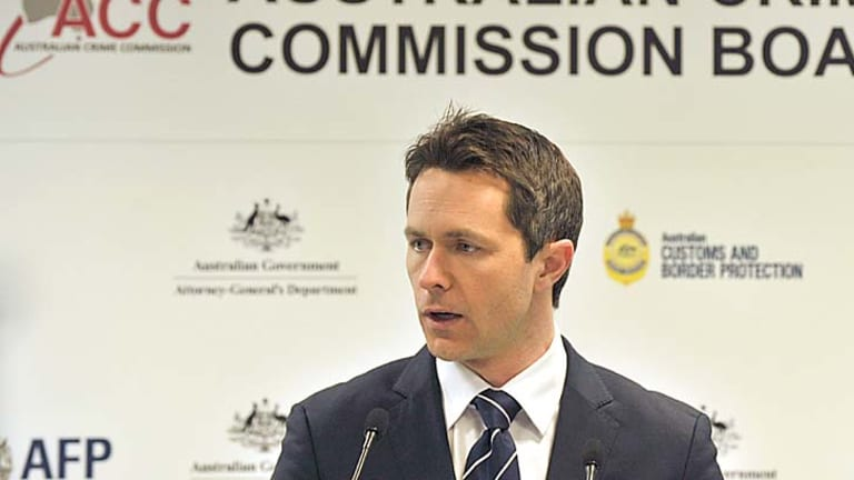 Jason Clare ... launched a crackdown on waterfront crime.