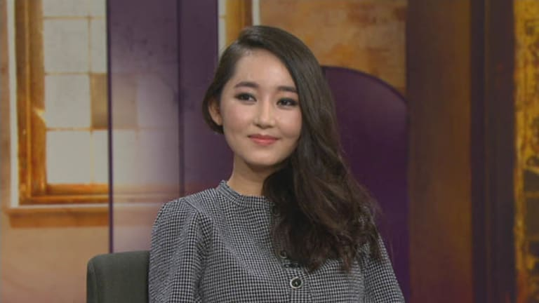 Yeonmi Park speaking on SBS's Insight.