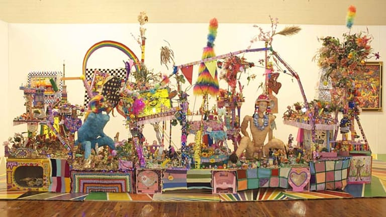 Erotomania meets nursery toys in Paul Yore's work.