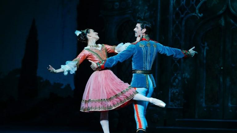 Leanne Stojmenov and Adrian Killian of the Australian Ballet in The Merry Widow.