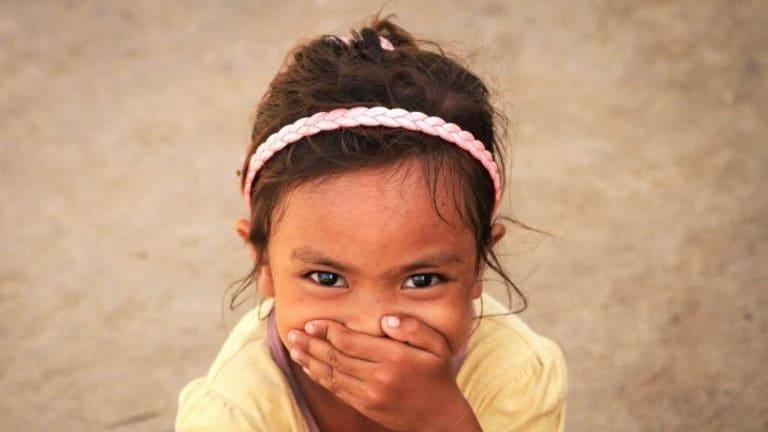 A girl from Bantayan smiles.