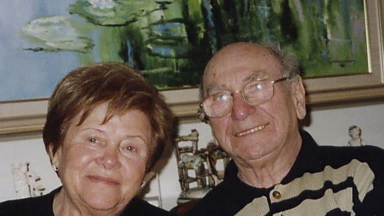 Josh Frydenberg's cousin Mark's parents Hersz and Maria Frydenberg, in a photo taken before Mr Frydenberg died in 2005.