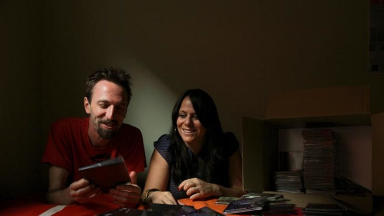 ''This is what a lot of people are doing'' … musician Julian Curwin and graphic designer Reanne Potter are about to launch a new record label. Setting up the label cost them roughly $10,000.