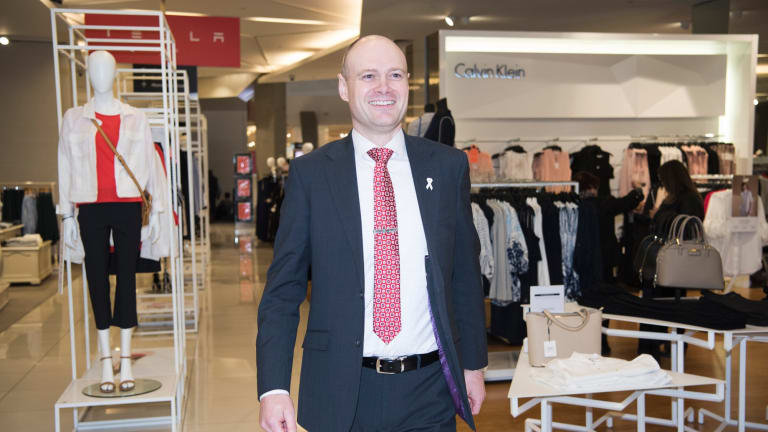 Myer chief executive Richard Umbers' ''New Myer'' strategy is under pressure.