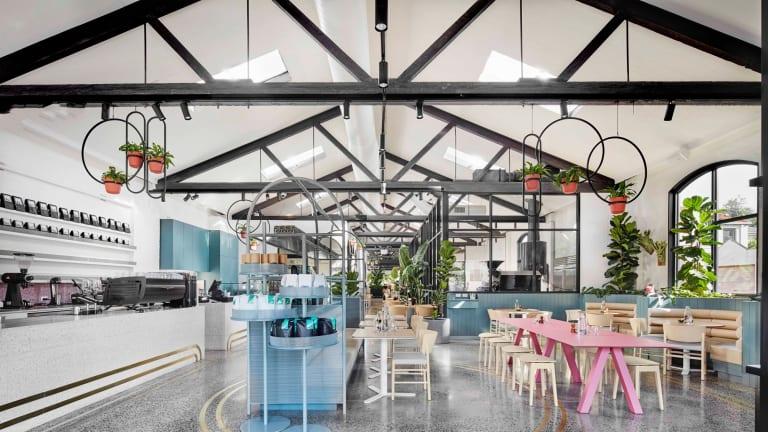 Cafe AU79 in Nicholson Street, Abbotsford, was designed by Mim Design.