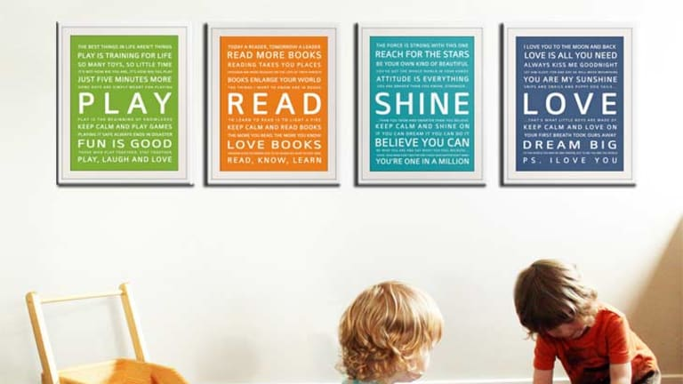 Wallfry's inspiration prints are bestsellers.