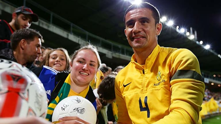 Tim Cahill: the Socceroos star was delighted to have the road named after him.