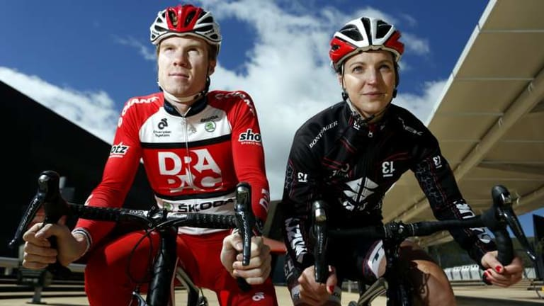 Canberra cyclists Tom Palmer and Rebecca Wiasak will compete in the National Capital Tour.