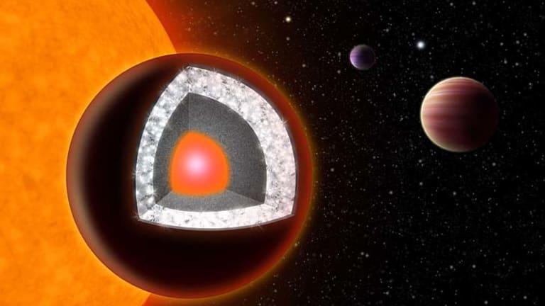 Diamonds are forever ... an artist's rendition shows the interior of 55 Cancri e.