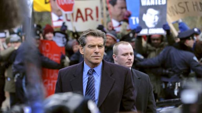 Pierce Brosnan as former British PM Adam Lang.