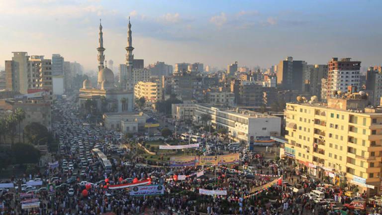 Eid al-Adha ... Egyptian Muslims attend prayers orgainised by the Muslim Brotherhood.