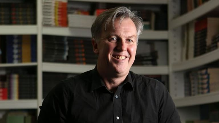 Michael Heyward at the Text Publishing offices