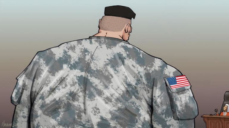 US Forces agreement. Illustration for David Biles piece by Matt Adams.