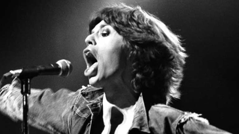 Mick Jagger, pictured in 1973, had donned glitter and glam rags for his glam-rock 1972 US tour with the Stones.