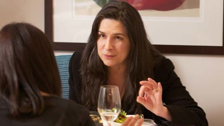 Lunch with Pamela Rabe.