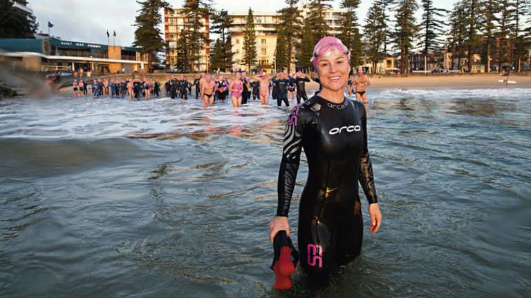 "Buoyant … Anna Alvsdotter with Manly's ""Bold & Beautiful"" swimming club."