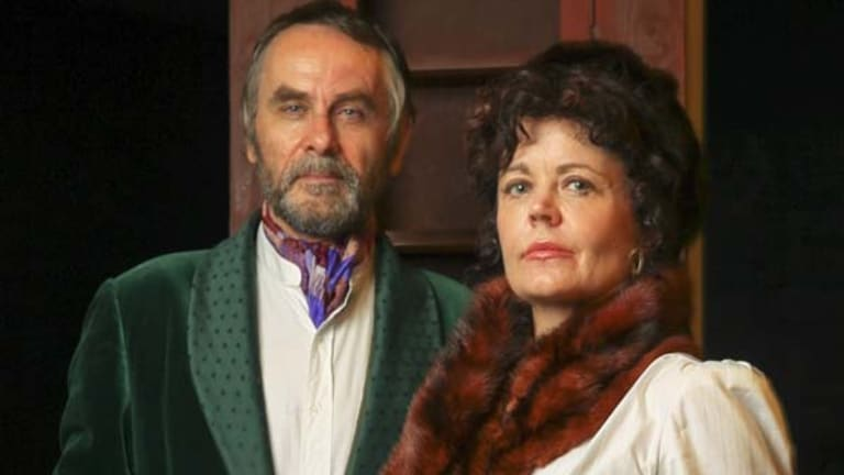 Michele Williams and Phil Roberts in <i> The Cherry Orchard</i>.