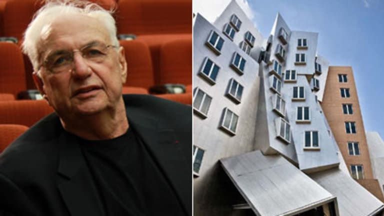 Shaping up ... the Ray and Maria Stata Centre at the Massachusetts Institute of Technology, above,  convinced UTS to approach Frank Gehry, pictured in Sydney yesterday.