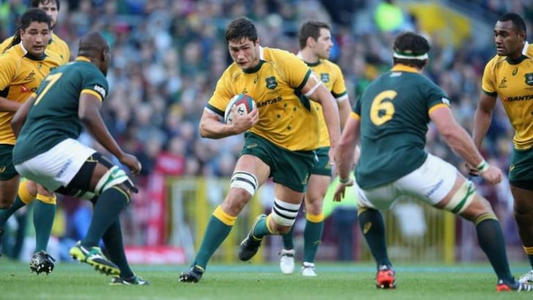 Under a cloud: Wallabies forward Rob Simmons is in doubt for Australia's clash with Argentina.