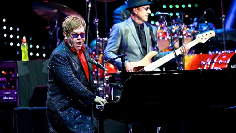 Elton John ... wowed the crowds at the Sydney Entertainment Centre.