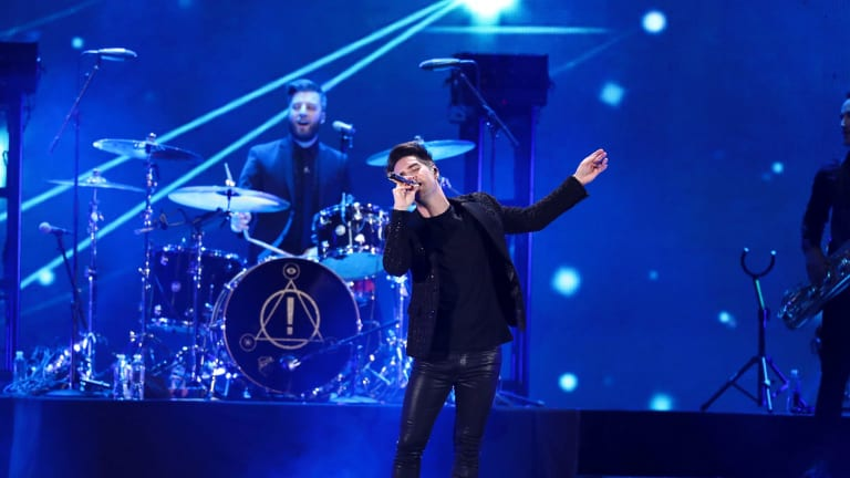 Brendon Urie proved energetic during Panic! at the Disco's Sydney show.