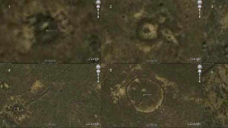 Google Earth screenshots showing some of Professor David Kennedy's finds.