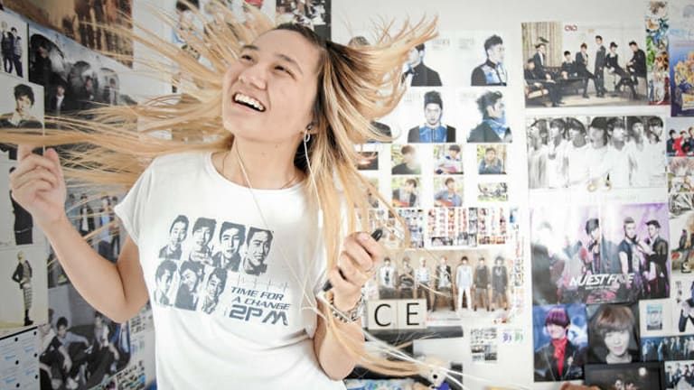 """""""I do dream about them"""" … Sydney student Beatrice Phan is a huge fan of Korean pop bands."""