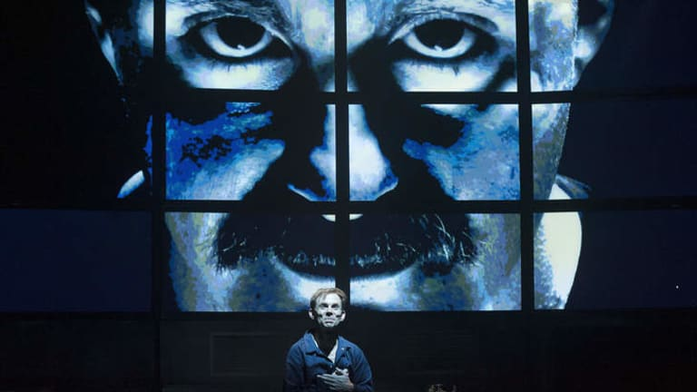 Dystopian future: shake & stir theatre company's <i>1984</i> dramatises Orwell's vision of a totalitarian-ruled society with flair.