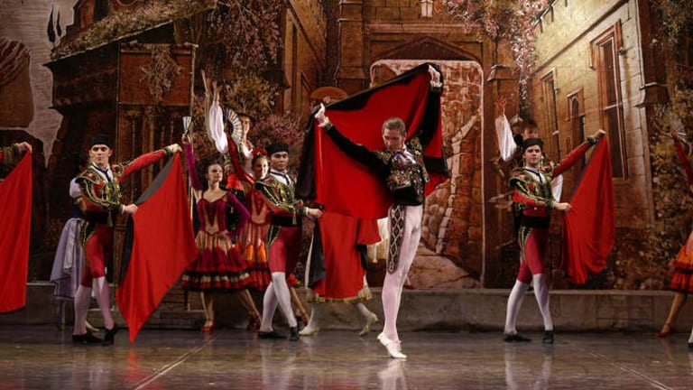 Spanish feel: Scene from the Imperial Russian Company?s production of <i>Don Quixote</I>.