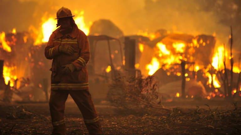 Bushfire: Bunyip State Park.