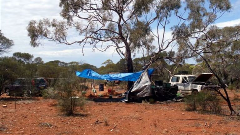 Mr Graham's vehicle was found at a campsite north-east of Menzies.