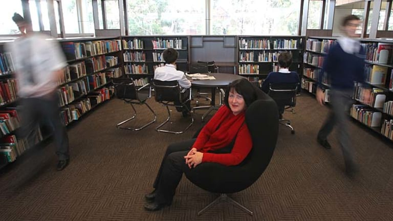"""""""I don't think teacher librarians are in an extinction phase"""" ... June Wall, treasurer of the Australian School Library Association."""