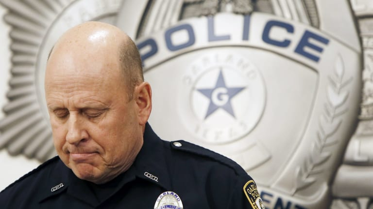 Garland Police spokesperson Joe Harn says the actions of one of their officers, who returned fire and killed the more heavily-armed gunmen, saved lives.
