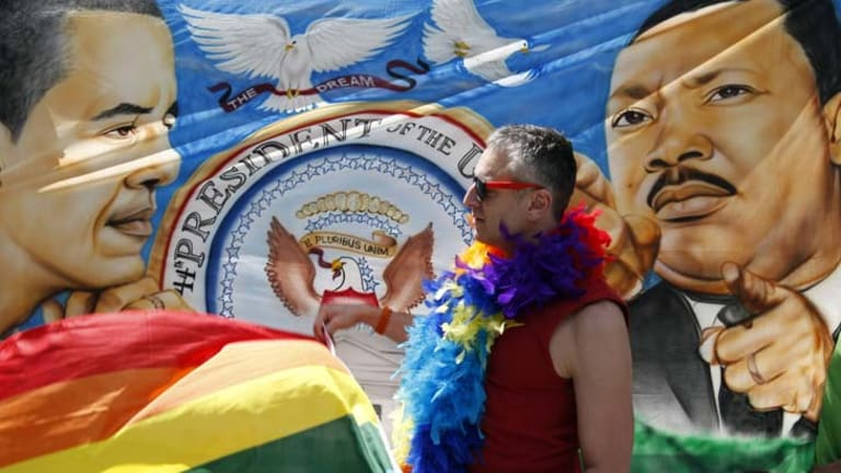 Gay commentators in the US are publicly expressing their appreciation of President Barack Obama's support for gay marriage.