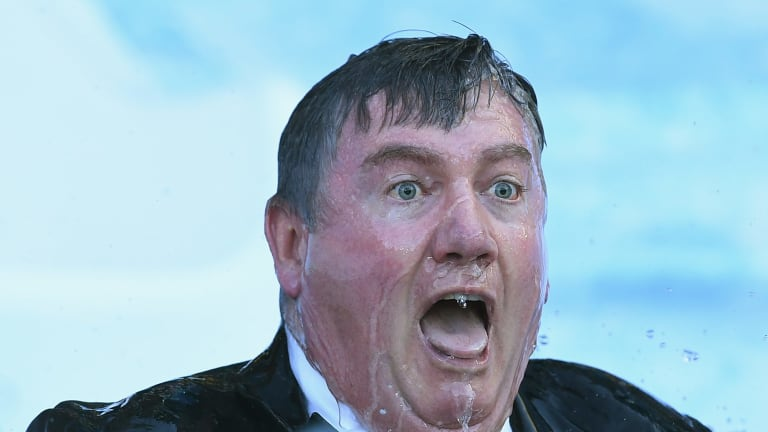 Collingwood president Eddie McGuire. Holden is sticking with the club as a sponsor.