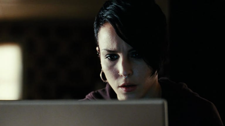 A screen near you: Far from mere fiction, ''hacktivists'' (as played by Noomi Rapace in The Girl with the Dragon Tattoo), have Australian websites scrambling for stronger online security.