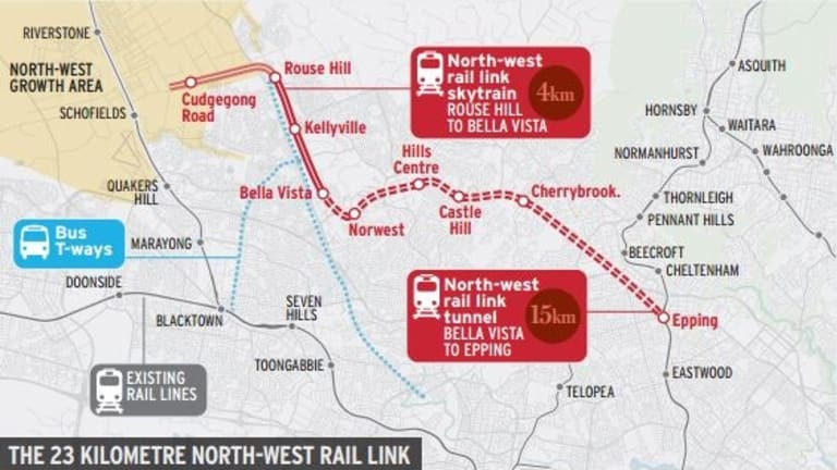 The 23-kilometre North West Rail Link.