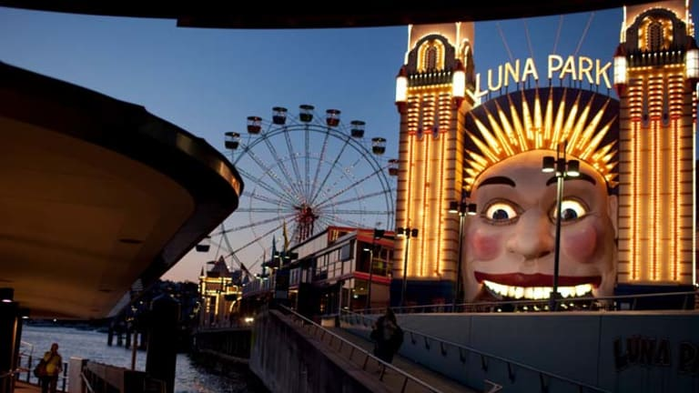 Bright idea .. the lightbulbs on the entrance face to Luna Park will be replaced with energy saving LED lights, which could reduce energy use by 90 per cent.